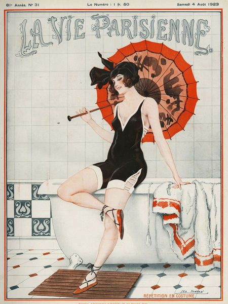 La Vie Parisienne, 1923. Art by Leo Fontan #vintageillustration #illustration