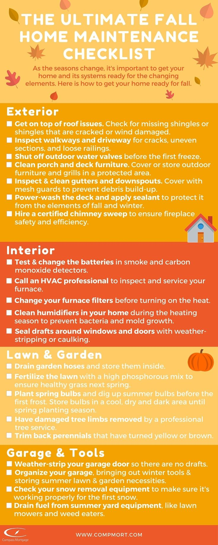 Car Inspection Checklist >> The Ultimate Fall Home Maintenance Checklist | Homeowner Tips | Pinterest