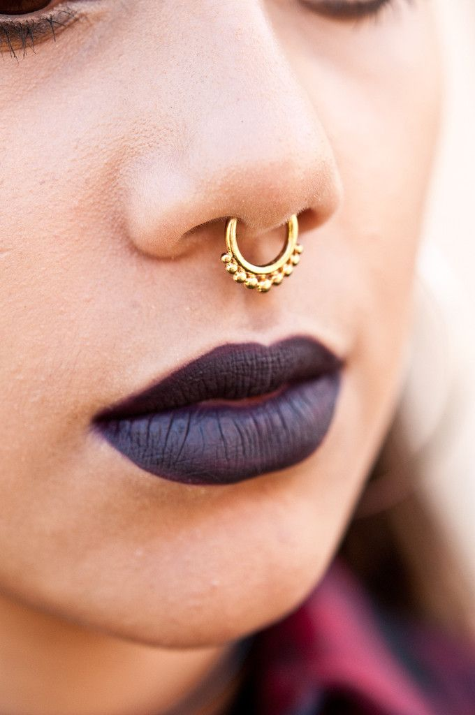 Faux Septum Nose Ring Gold