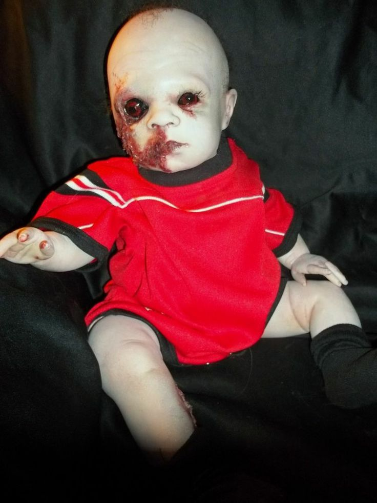 Horror Zombie Evil Scary Reborn Baby Doll Oddities Ooak