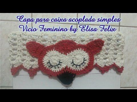 Jogo de banheiro coruja : Capa para Caixa acoplada Vício Feminino by Eli...