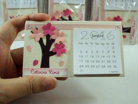 calendário 2016 - árvore de sakura * maternidade