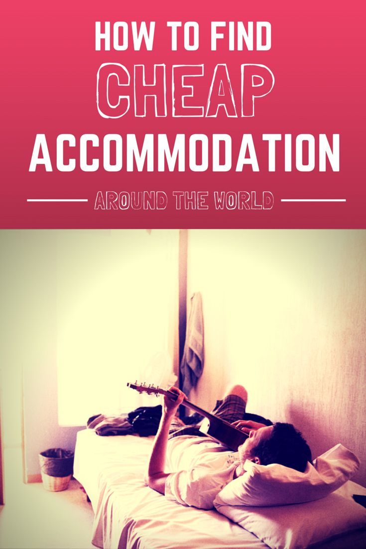 How to find cheap accommodation when you travel outside of hostels and hotels. #travel