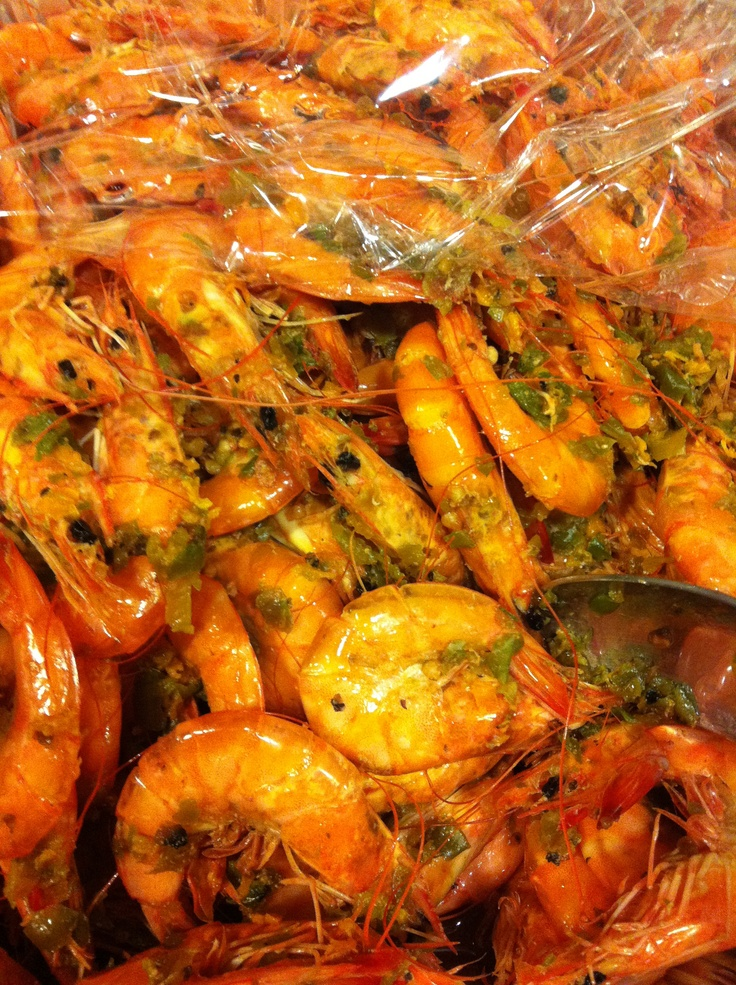 "Jamaican style Peppered Shrimp - Made and sold by ""Big Man Pepper Shrimp"" NY, but they're no longer in business."