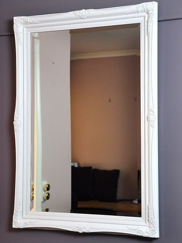 JULIANNE MIRROR-GLOSS WHITE-italianate-antique-WALL-NEW-ornate gothic baroque $249 Stellshouse