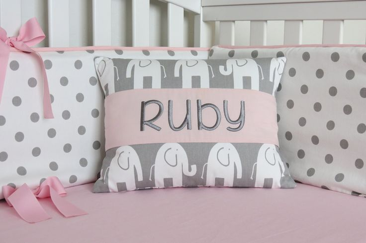 FREE MONOGRAM Elephant Pillow Cover - Personalized Elephant Pillow Cover - Elephant Toddler Travel Pillow, red, pink, blue, gray, pillow cover, throw pillow, pillowcase, pillow slipcover. PERSONALIZED PILLOW COVER: Add the finishing touch to your nursery with a beautiful, custom, decorative pillow cover. This pillow makes a wonderful transition from crib to toddler bed, and is also great as a travel pillow or for use during daycare/kindergarten nap time. Add an embroidered name or…