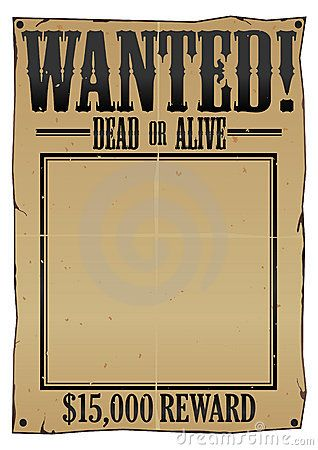 Wanted Poster Arts And Crafts Picture Frames For Parties Frame Template
