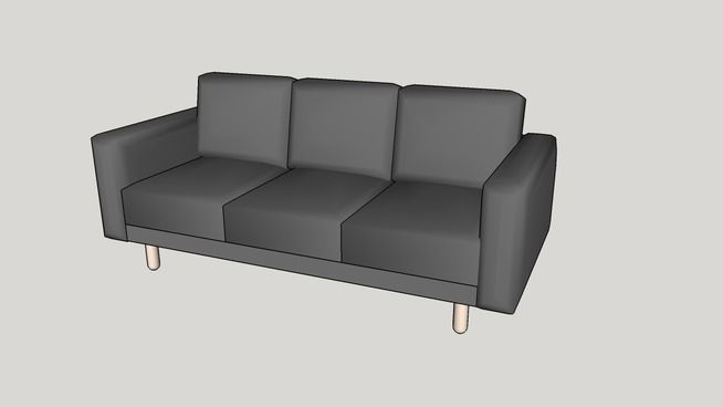 Ikea NORSBORG three-seat sofa - 3D Warehouse