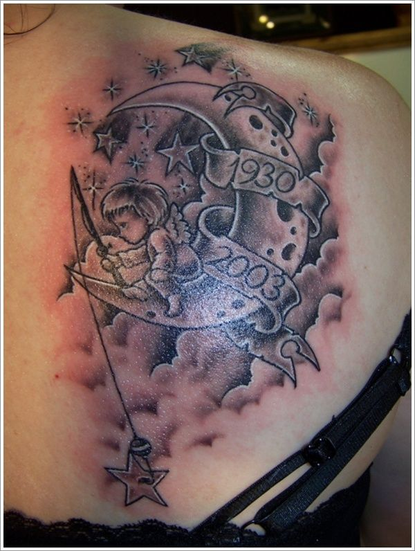 Moon And Cloud Tattoo Small: The Femininity Of Moon Tattoo Designs: The Fairy Star And