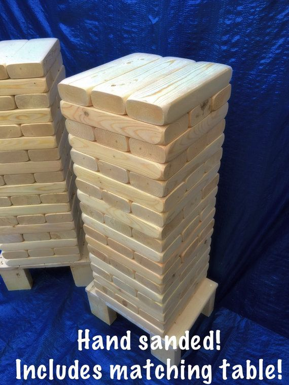 Size Giant Jenga Tumble Block Yard Lawn Game East By NathonH