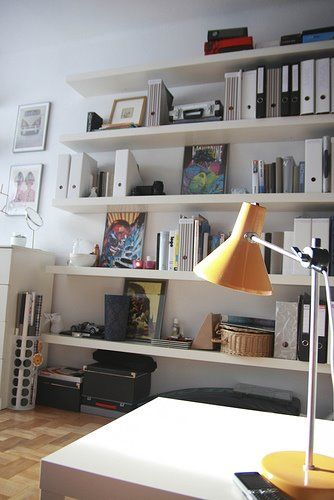 Floating Shelves // I'm always concerned about the strength of floating shelves, though I love the look.