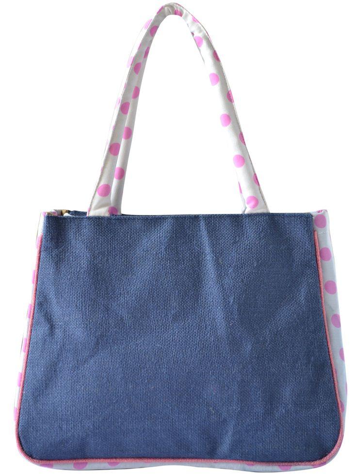 #handbag #jutehandbag #blue Available at www.earthenme.com
