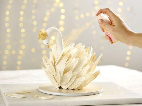 Swan Cake Rezept + # apple_pies #cake #chocolate_pies #easy_moist_chocolate_cake #e …