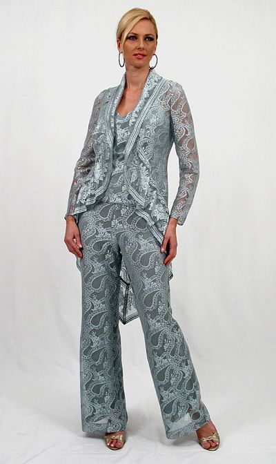 Damianou 3pc Paisley Mother Of The Bride Pant Suit 2271 At