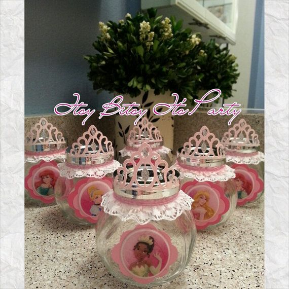 Princess favor jars princess favors princess by itsybitsyitsparty, $35.00