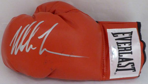 Mike Tyson Autographed Red Everlast Boxing Glove TriStar #7827225