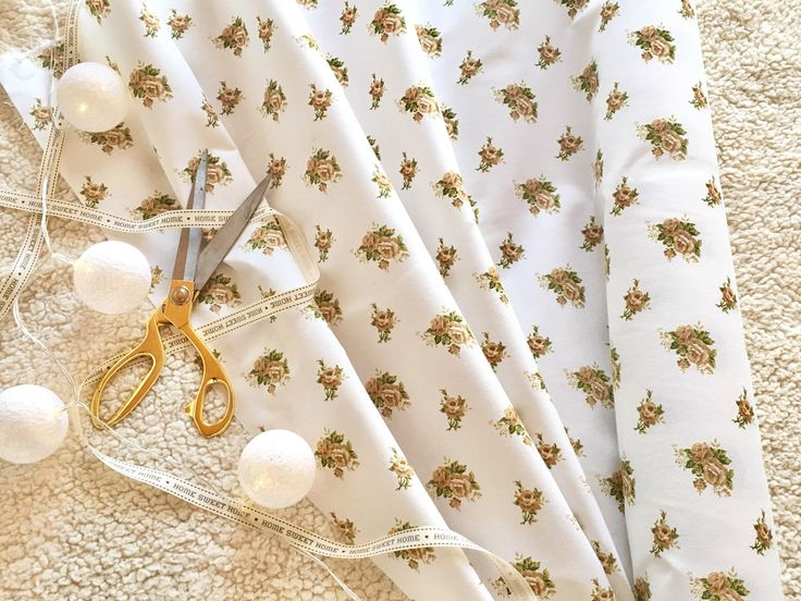 A personal favorite from my Etsy shop https://www.etsy.com/listing/508412175/1-metre-cotton-fabric-beige-roses