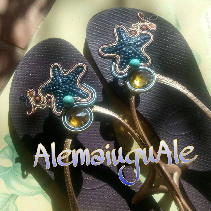 #ciabattine #mare #soutache #accessori #pezziunici #moda #stile #vacanze #estate2016