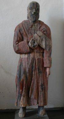 Poor man statue, Finland/ Kokkolan Kaarlelan kirkon vaivaisukko, 1784
