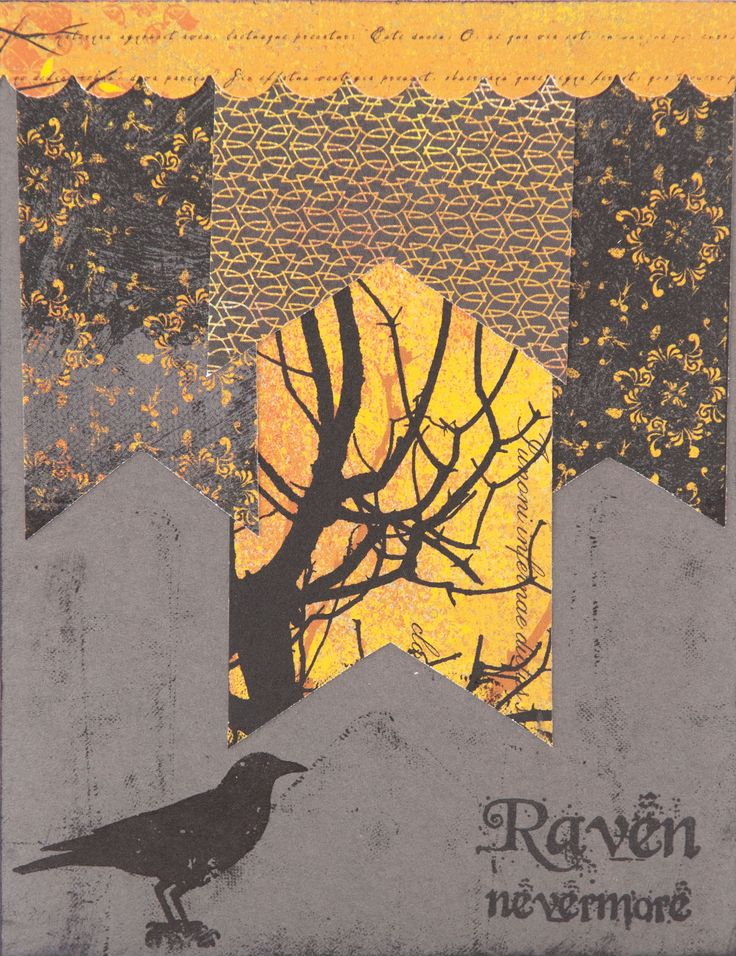 An ode to Poe by Sarah Raines. Find Sarah's how-to in Take Ten Autumn 2014.