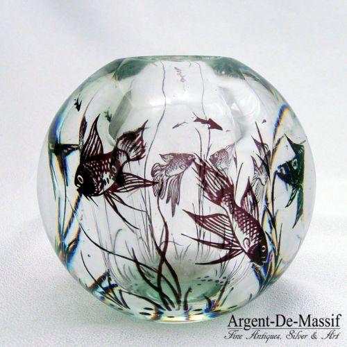 Orrefors Fish Graal Vaseorrefors Fish Graal Vase By Edward Hald