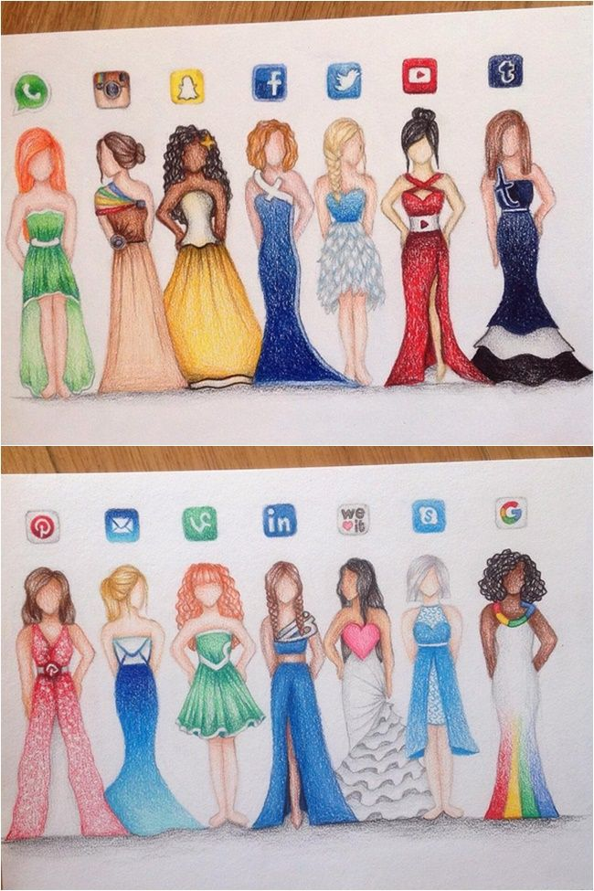 humanized social media fashion - Google Search | dessin