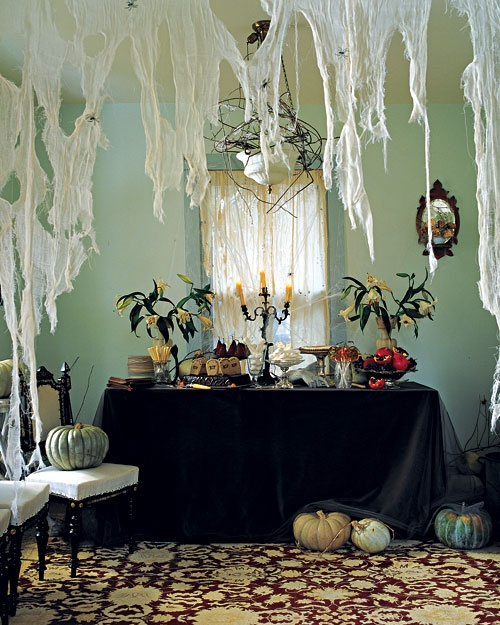 cheesecloth spiderwebs