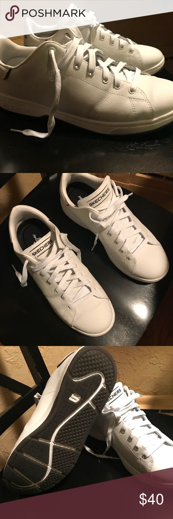 Men's 10 Sketcher tennis shoes. Men's sketcher tennis shoes only worn one time in size 10 sketchers Shoes Sneakers