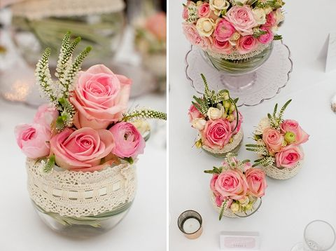 Love the simplicity of these flowers - they look so romantic and soft BUT very elegant as well :) perfect for a long top table especially