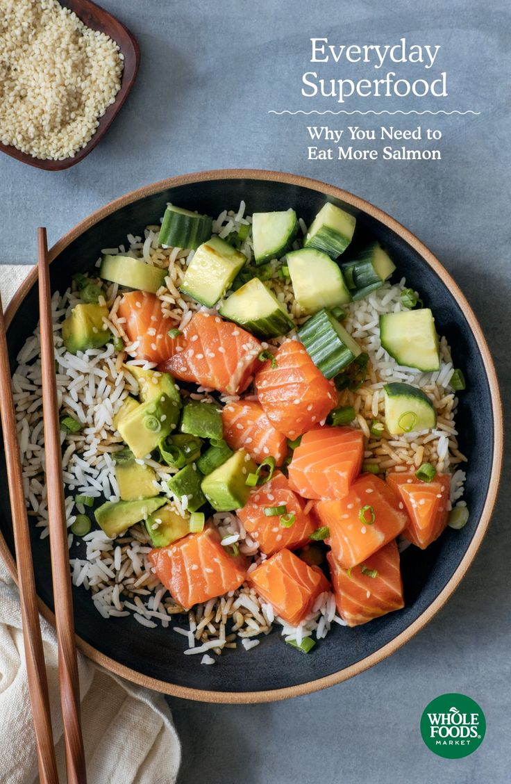 Everyday Superfood: Why You Need to Eat More Salmon   Salmon is a favorite choice because it contains significant amounts of essential omega-3 fatty acids, which support heart and eye health.