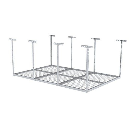 Special Offers - FLEXIMOUNTS 4X6 Heavy Duty Overhead Garage Adjustable Ceiling Storage Rack 72 Length x 48 Width x 40 Height White 72 Length X 48 I X 40 I - In stock & Free Shipping. You can save more money! Check It (May 19 2016 at 10:23PM) >> http://garagecabinetusa.net/fleximounts-4x6-heavy-duty-overhead-garage-adjustable-ceiling-storage-rack-72-length-x-48-width-x-40-height-white-72-length-x-48-i-x-40-i/