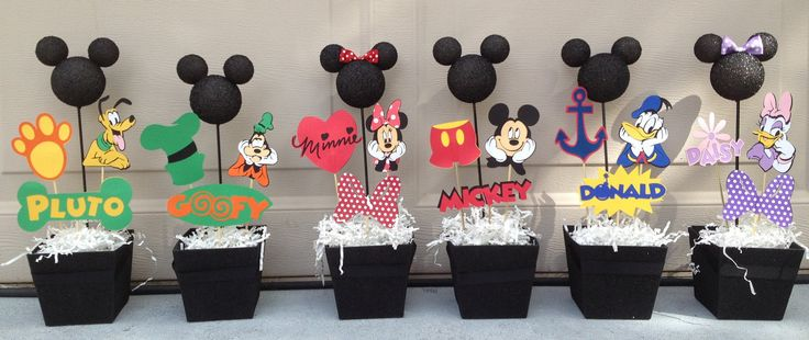 Mickey Mouse clubhouse Set of 6 by RaeofSunshinedesign on Etsy, $65.00