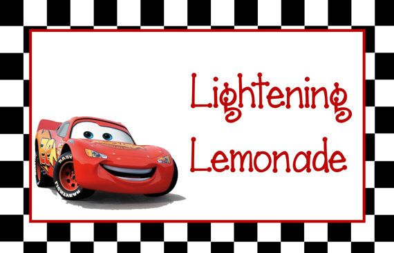 Disney Cars Birthday Party Food Labels by AllAmericanCreations