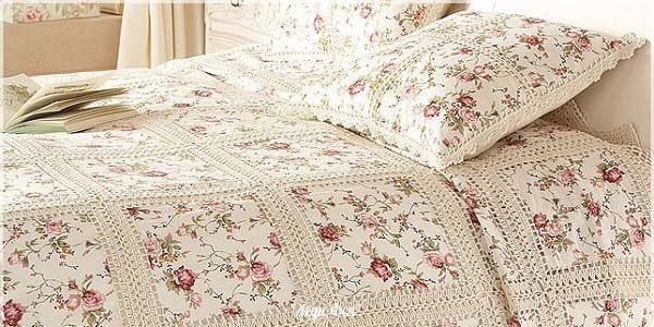 Gorgeous bedspread fabric squares / HandWork Art