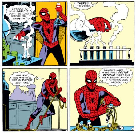 Steve Ditko, Amazing Spider-Man #3 / I love the fact that you got to see the scientist side of Peter so much in the books. Something that the awful Sam Raimi movie trilogy never showed but Marc Webb's Amazing Spider-Man movies did.