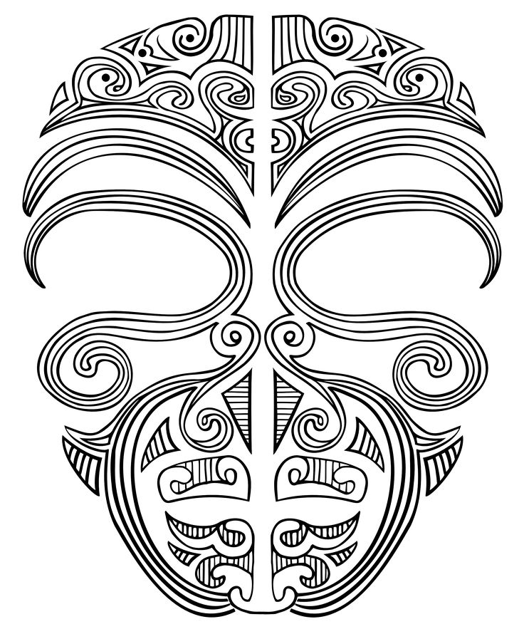 ta moko, face tattoo, maori mask
