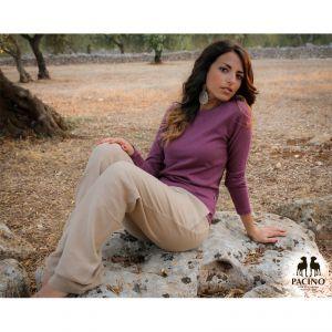 #Pantalone lungo Donna #PACINO color incenso 100% #Canapa Biologica La tessitura leggera di questo capo garantisce il massimo della traspirabilità e della freschezza.  #bottegadellacanapa www.bottegadellacanapa.com