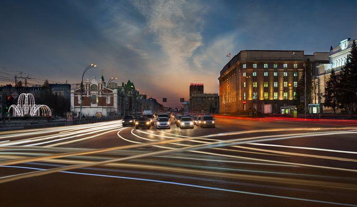 Съемка ночного города от Сибирячки