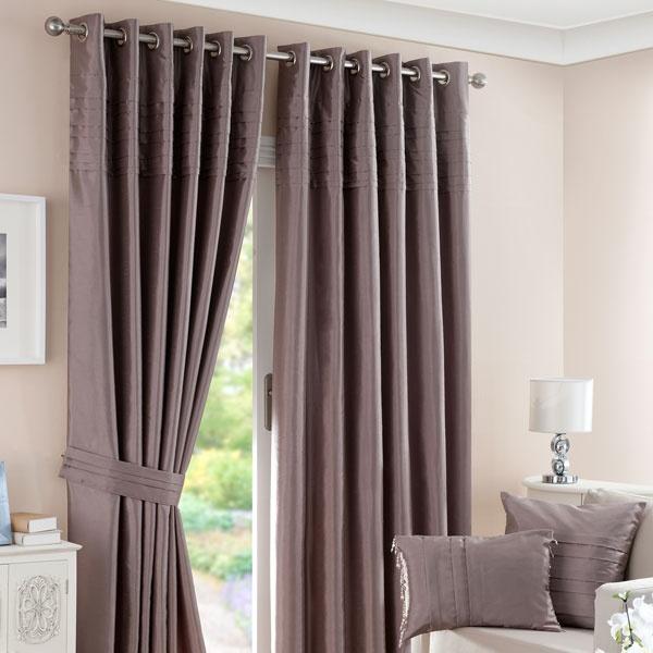 mink pintuck lined eyelet curtains home sweet home. Black Bedroom Furniture Sets. Home Design Ideas