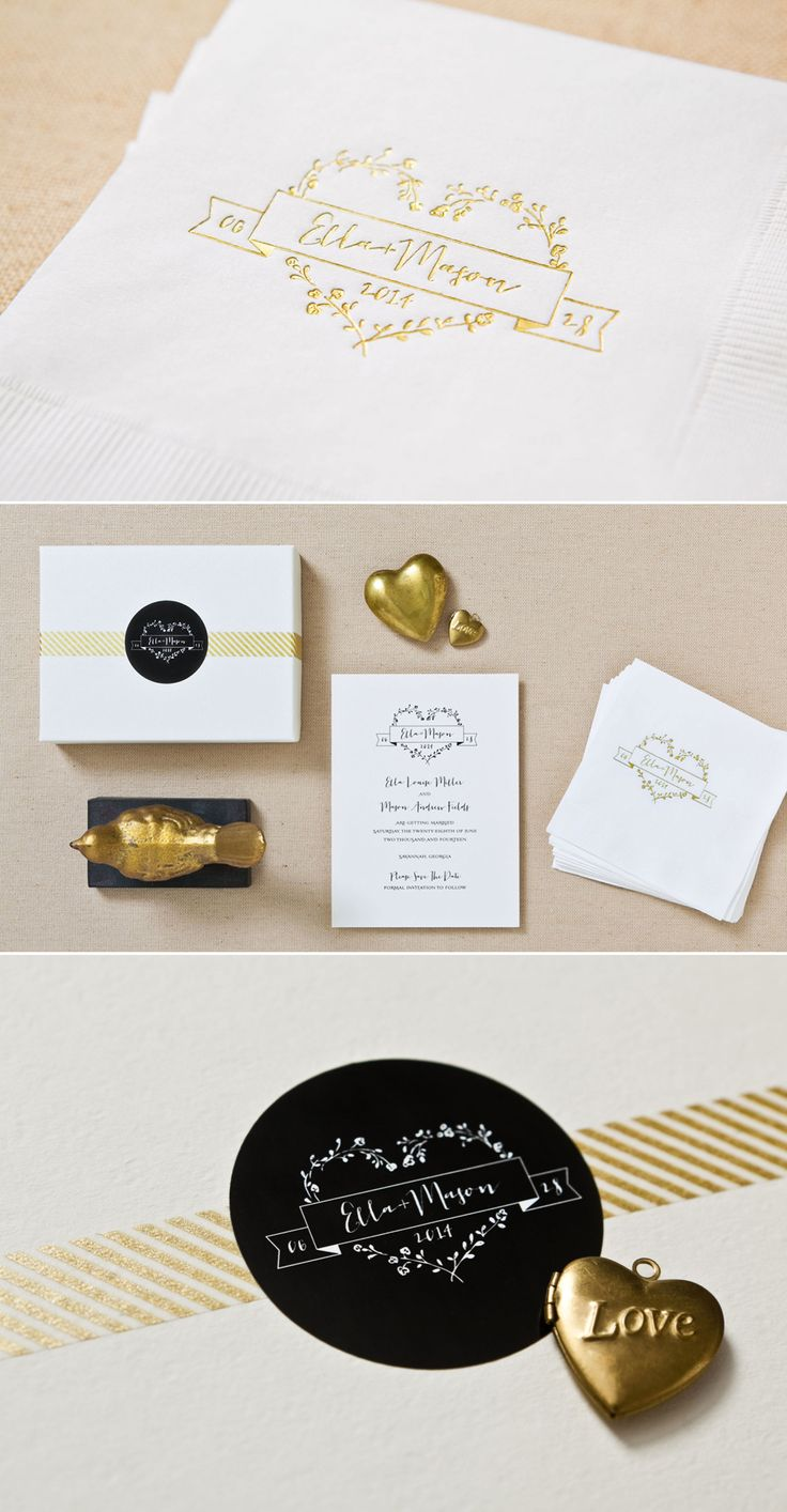 loving this gold and black stationery http://www.betsywhite.com/lookbook.html