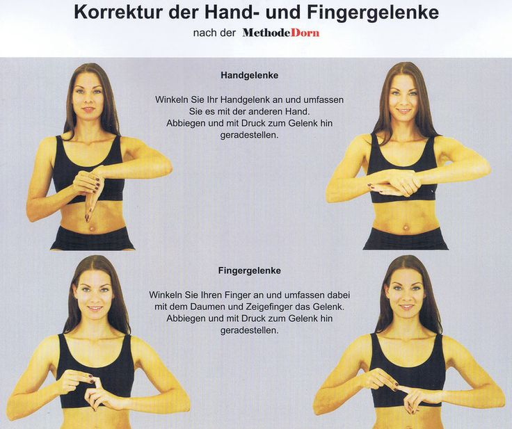 Korrektur der Hand- und Fingergelenke nach der Methode Dorn
