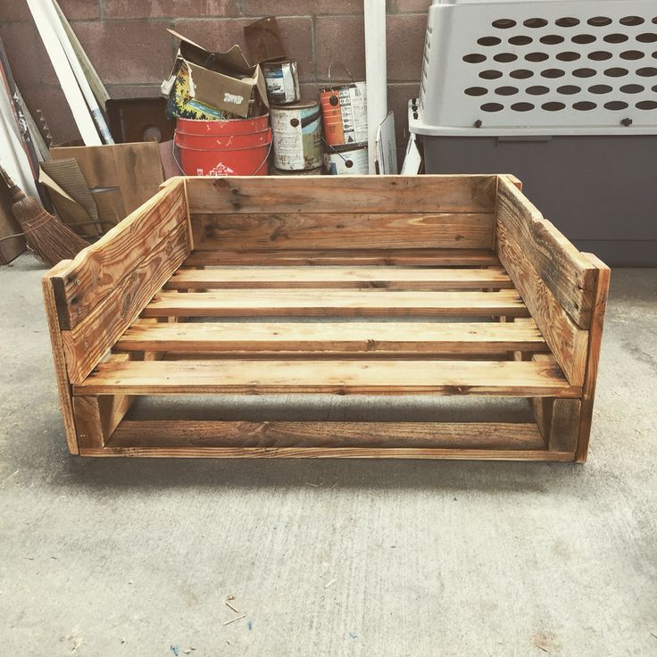 Dog bed made from a pallet