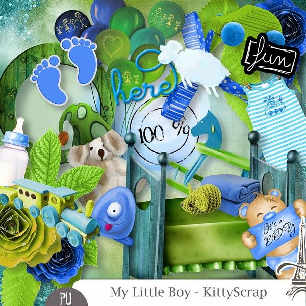 Le Blog de kittyscrap: MY LITTLE BOY : collection essentiels juin 2016