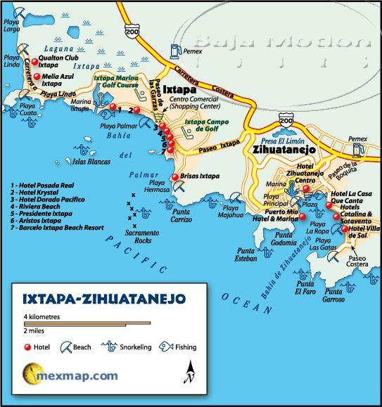 Ixtapa Zihuatanejo Map Visited here Dec 21-28, 2013 Loved it!!!!