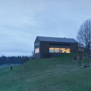 Black Barn by Arhitektura d.o.o. used for  production of dried fruit and honey