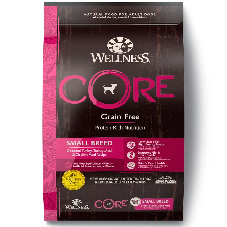 Wellness Core Natural Grain Free Dry Dog Food Small Breed 12