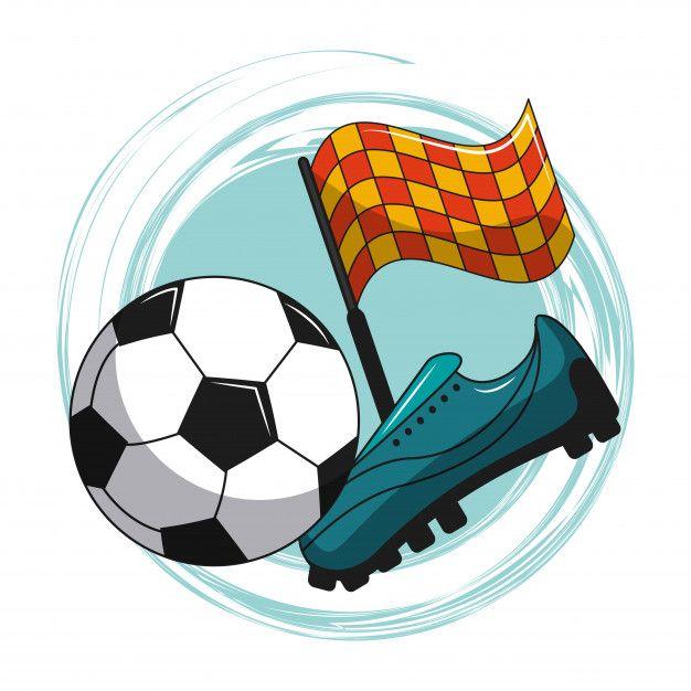 Elementos De Dibujos Animados De Futbol Premium Vector Freepik Vector Icono Depor Dibujos De Futbol Imagenes De Deportes Animados Nino Jugando Futbol