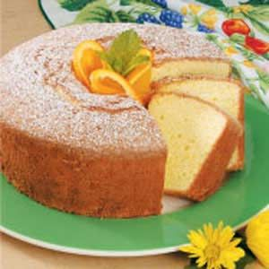 Orange Tea Cake Recipe -This from-scratch sponge cake has a hint of orange in every bite...and is wonderful served with a cup of hot tea or coffee. It doesn't need frosting—just dust a little confectioners' sugar on top.—Beth Duerr of North Tonawanda, New York