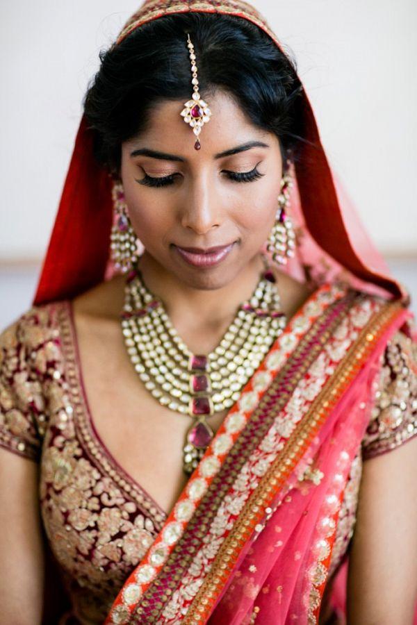 Bright coral and pink bride    #wedding #weddings #weddingideas #aislesociety #indianweddings