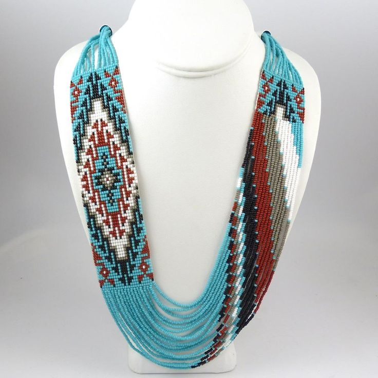 Beaded Necklace and Earring Set by Rena Charles - Garland's Indian Jewelry